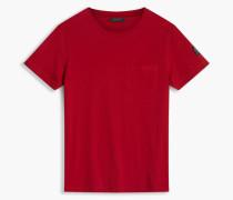 Belstaff New Thom T-Shirt Mit Rundhalsausschnitt Tiefrot
