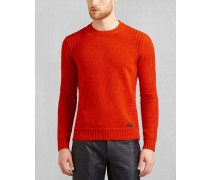Belstaff Margate Strickpullover Mit Rundhalsausschnitt Red Orange