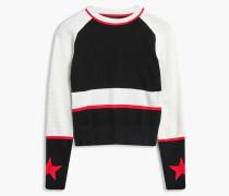 Belstaff Sinead Pullover Mit Rundhalsausschnitt White/Red/Black