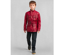 Belstaff Junior Roadmaster Jacke Tiefrot Alter 10