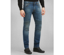 Belstaff Schmal Geschnittene Eastham Jeans Mittelblau
