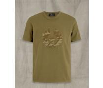 T-Shirt mit appliziertem Camouflage-Print