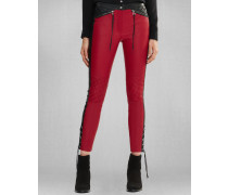 Cantrel Hose In Slim Fit-Ausführung Red/Black
