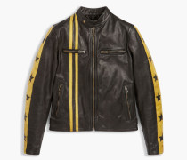Belstaff Mashburn Bikerjacke Black/BrightYellow