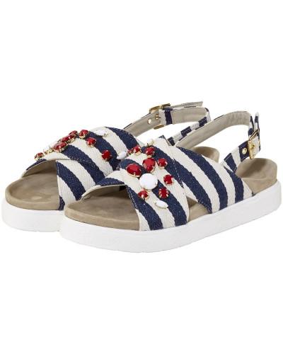 Professionel INUIKII Damen Stripes Sandalen Auslauf Perfekte Online-Verkauf Verkauf Angebote HUl9o