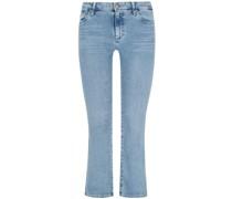 Jodi 7/8-Jeans High Rise Slim Fit Flare Crop