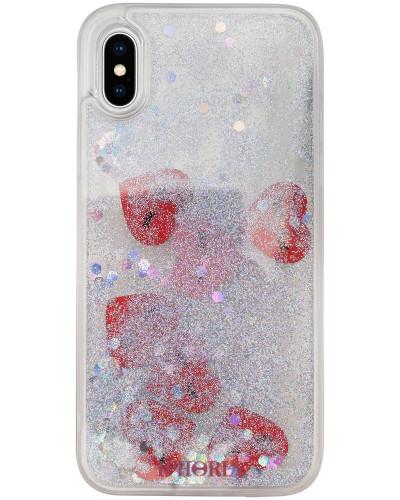 Liquid iPhone Case X Hearts