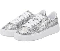 Basket Platform Glitter Sneaker