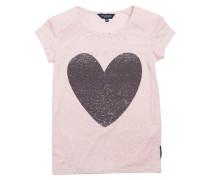 T-shirt Carole Heart Pale Mauve