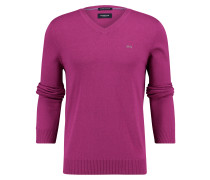 Pullover Springer V-neck Dark Pink
