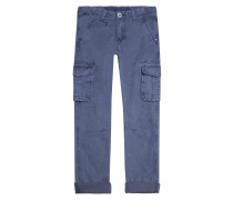 Hose Quin Cargo GD Straight Fit Yale Blau