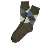Socken Basic Argyle Armeegrün