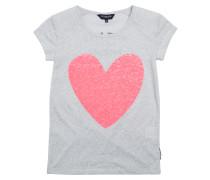 T-shirt Carole Heart Athlete Grau
