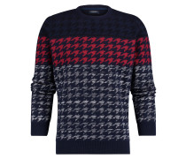 Pullover Alby Houndstooth Yale Blau