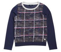 Sweatshirt Charly Check Yale Blau