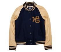 Baseball Jacke Wool Iconic Marine
