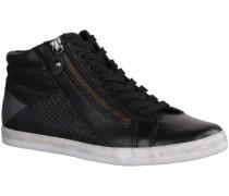 Sneaker 56426-57 - Damenschuhe Sneaker, Schwarz, leder (foulard/snake k