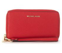 Portemonnaie Geldbeutel Modell Mercer aus gehämmertem Leder Rot.