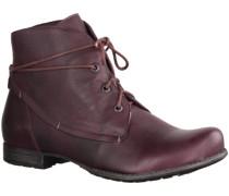 Stiefel Denk! 87015-35- Damenschuhe modische Stiefelette, Rot, leder (c