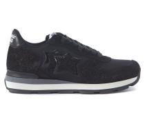 Sneaker Sneakers Vega in Glitter-Leder und Textil in Schwarz