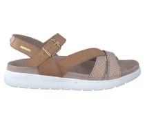 Hausschuhe P5122380 Wedge sandals Frauen Brown