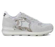 Sneaker Sneaker Vega in suede grigio e tessuto camouflage