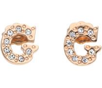 Ohrringe Damen Ohrringe Ohrstecker Metall Rosegold UBE11326