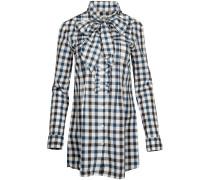 Blusen Damen Bluse Schwarz/Blau/Weiss Scarlett 221037-0005