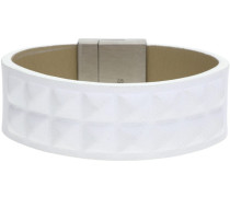 Armbänder Herren Armband Leder Weiss SPIKE PJ24411BLW-01-L