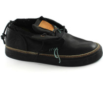 Sneaker 162.027 Antai schwarz schwarz Mann Mitte Leder Schnürsenkel