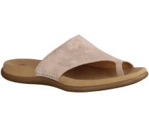 Hausschuhe 63700-64- Damenschuhe Pantolette / Zehentrenner, Mehrfarbig, l