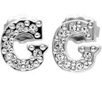 Ohrringe Damen Earrings Ohrstecker Metall Silber G UBE70711