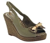Sandalen Sandalo zeppa cinturino cordura fiocco sandale