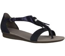 Sandalen 6069-019- Damenschuhe Sandalette / Sling, Blau, leder (softnubu