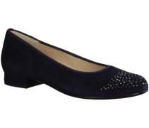 High Heels 301002-350- Damenschuhe Modische Pumps / Ballerina, Blau, samtz