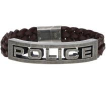 Armbänder Herren Armband Leder Braun STAMP PJ25489BLC-02-S