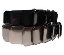 Gürtel - Metall-Gürtel ELABE - Schwarz Silber - Größe 90 cm