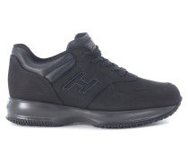 Sneaker Sneakers Interactive Nubuk Schwarz