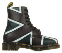 Stiefel Pascal Brit Navy Oxblood White Smooth Pu