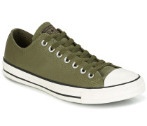 Sneaker CHUCK TAYLOR ALL STAR TUMBLE LEATHER OX MEDIUM OLIVE/EGRET/BLACK