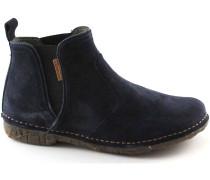 Stiefelletten EL LUX NATURA N996 SUEDE Ozean blaue Schuhe Stiefel beatles