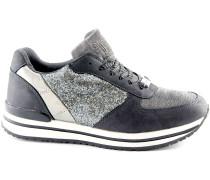 Sneaker 1569 grau Schuhturnschuhe Frau Pailletten