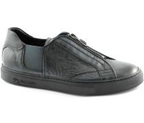 Sneaker MARTINA C3010010 schwarzer Mann Beleg auf Schuhen Haut zip