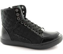 Laura Biagiotti  Sneaker 1231 schwarze Schuhe Frau Turnschuhe Innentasche mit Reißversch