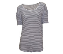 Shirt Edita in weiß-blau geringelt