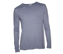 Langarmshirt in Blau-Grau