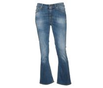 Jeans Ode in Blau mit Schlag
