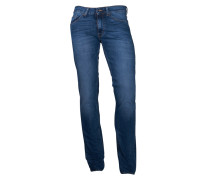 Slim Fit Jeans Straw in Blau
