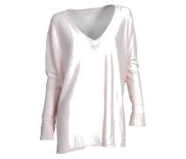 Pullover aus Kaschmir und Leinen rosa