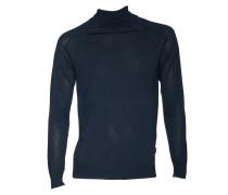 Rollkragenpullover Visavi aus Wolle dunkelblau